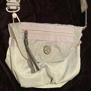 Lululemon Gray Blue Nylon Crossbody Festival Bag